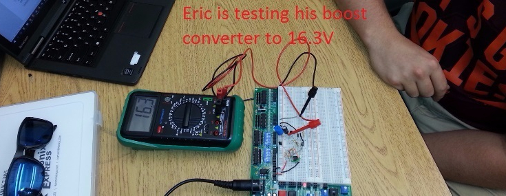 ECE 2074 Eric's Boost Converter Measurement